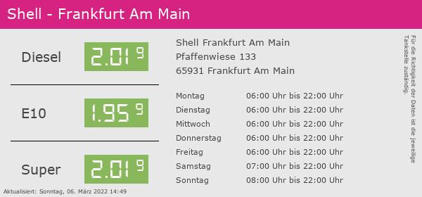 Benzinpreis Frankfurt